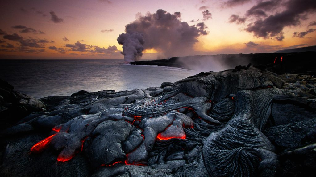Kilauea erupting, Volcanoes National Park, Hawaii, USA