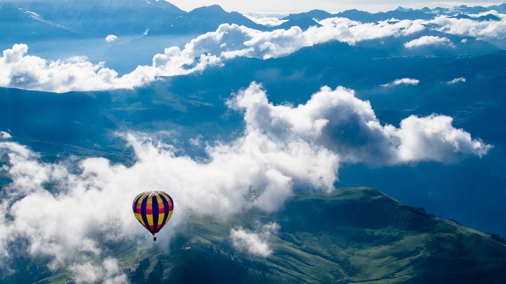 Over the Alps, Praz-sur-Arly, Haute-Savoie, Auvergne-Rhône-Alpes, France
