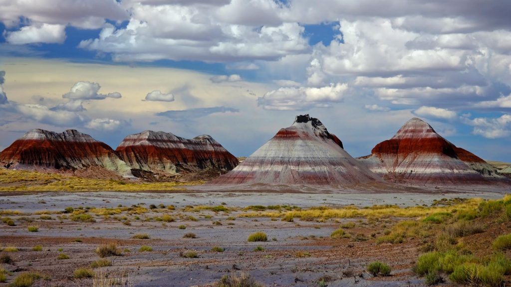 Mountains in the Painted Desert, Petrified Forest National Park, Arizona, USA