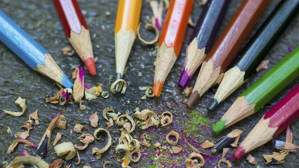 Sharpened colored pencils, Thurmont, Maryland