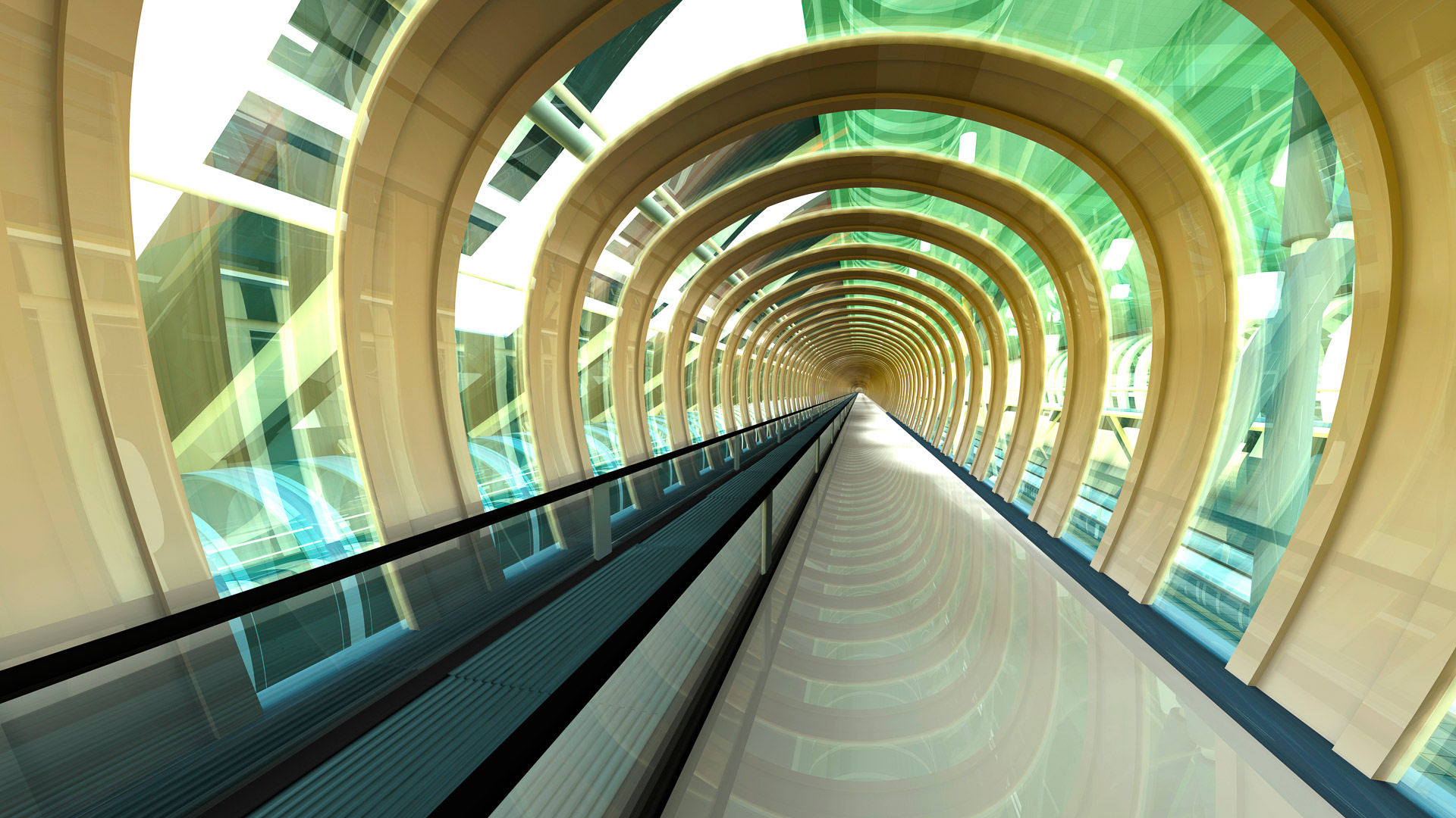 Futuristic Passageway 3d Rendering Windows 10 Spotlight