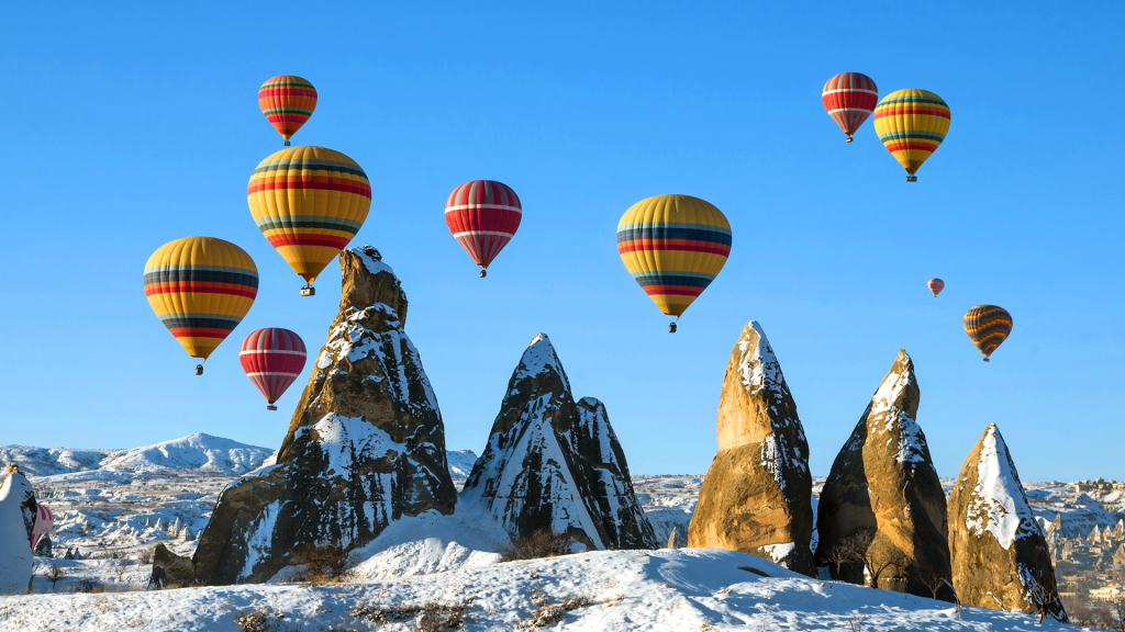 Hot Air Ballooning in Cappadocia, Nevsehir, Central Anatolia, Turkey