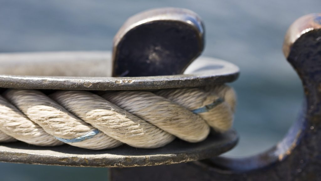 Close up of a boat hook