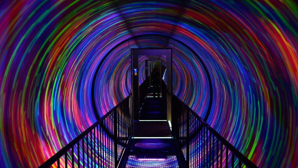 Light experiment - Camera Obscura, Edinburgh, Scotland, UK