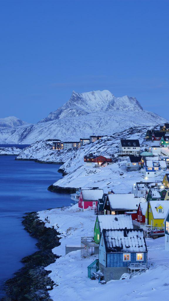 Nuuk Old Town Twilight Greenland Windows 10 Spotlight