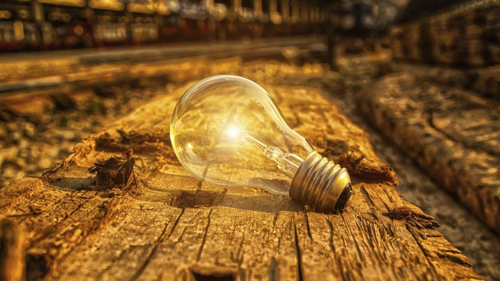 The incandescent light bulb represent idea, creative, inspiration, imagination