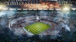 Soccer stadium upper view