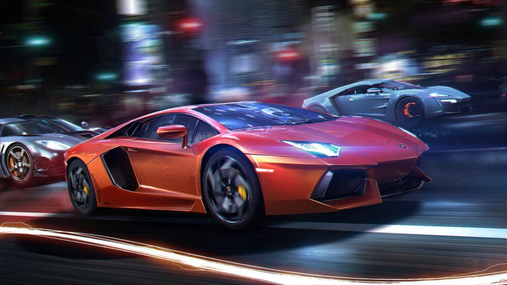 Street racing computer game poster