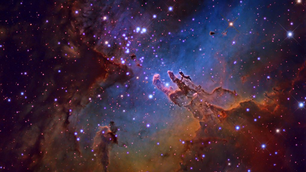 M16 The Eagle Nebula in Serpens constellation