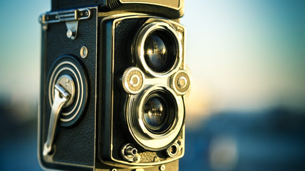 A vintage twin lens medium format camera, Los Angeles, California, USA