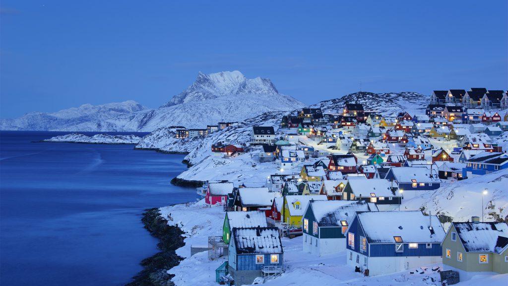 Nuuk Old Town Twilight, Greenland