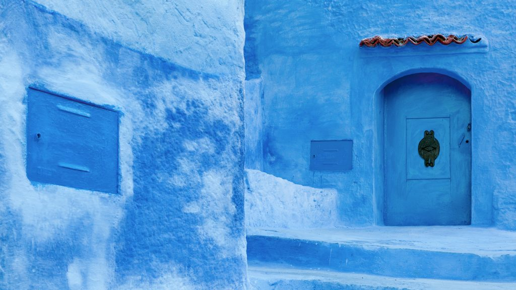 Traditional blue washed medina of Chefchaouen, Rif region, Morocco
