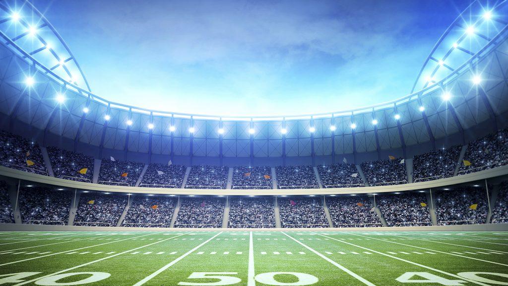Light of american football stadium