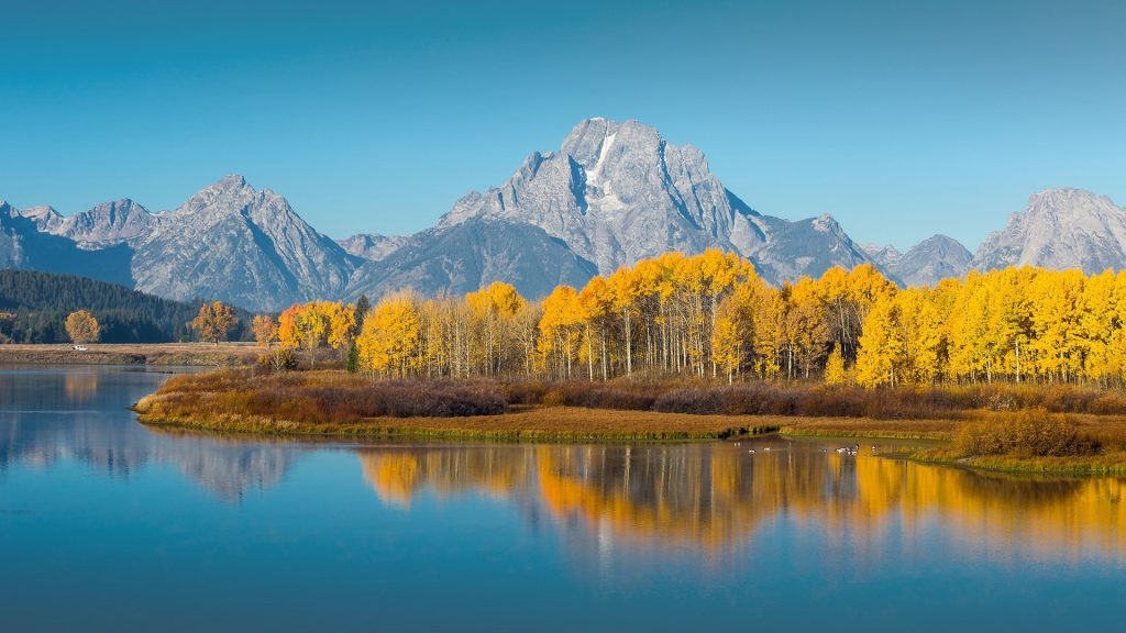 Grand Teton National Park in autumn, Wyoming, USA