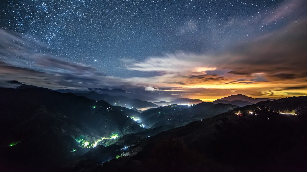 Starry night at Hehuanshan, Hehuan Mountain, Taichung, Taiwan