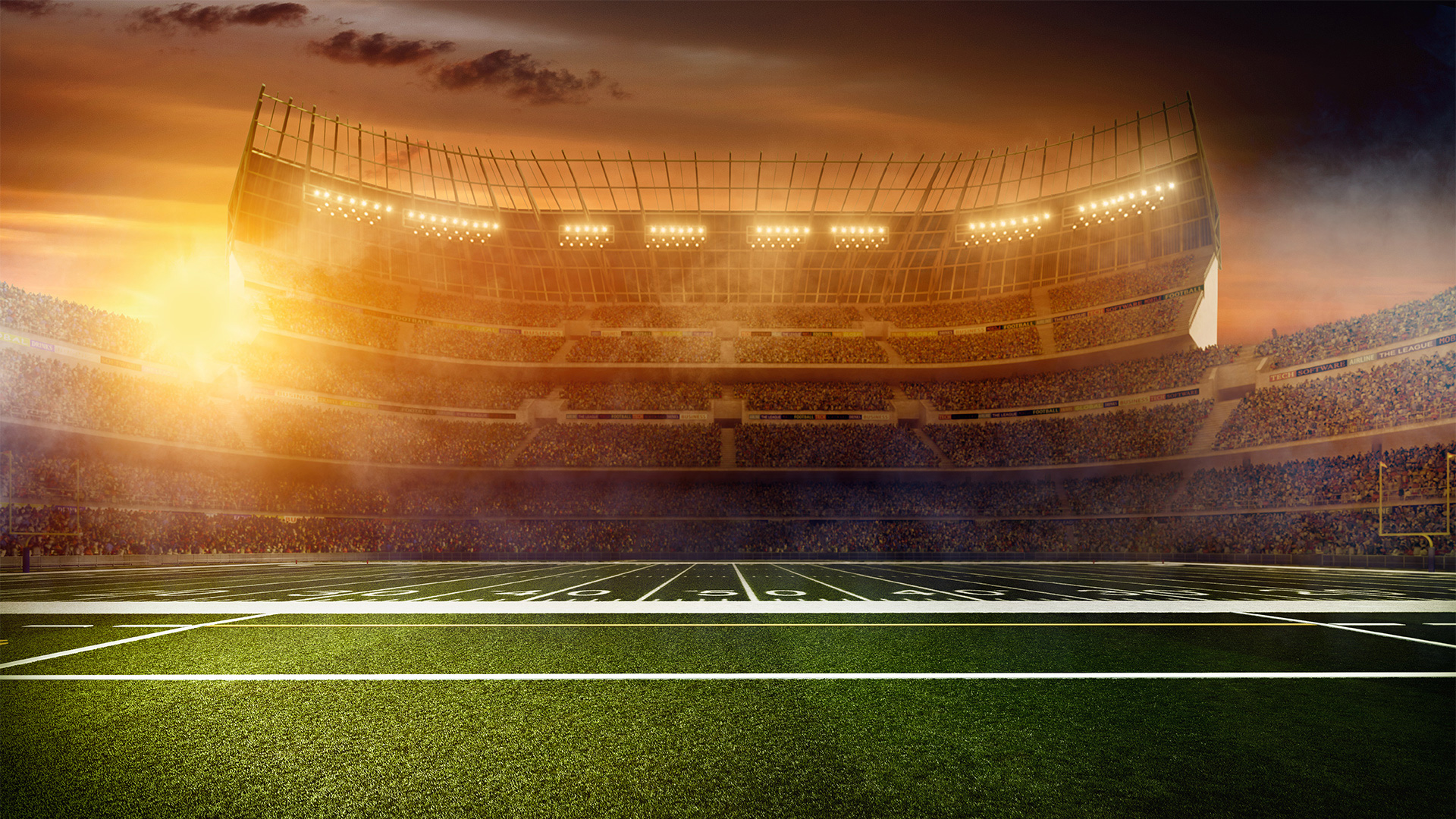 Image result for football stadium and clouds