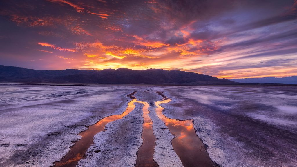 First Taste, sunset at Death Valley national park, California, USA