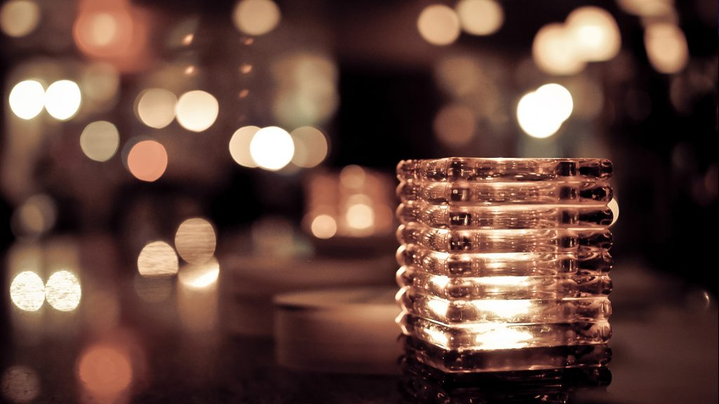 Candle holder lights