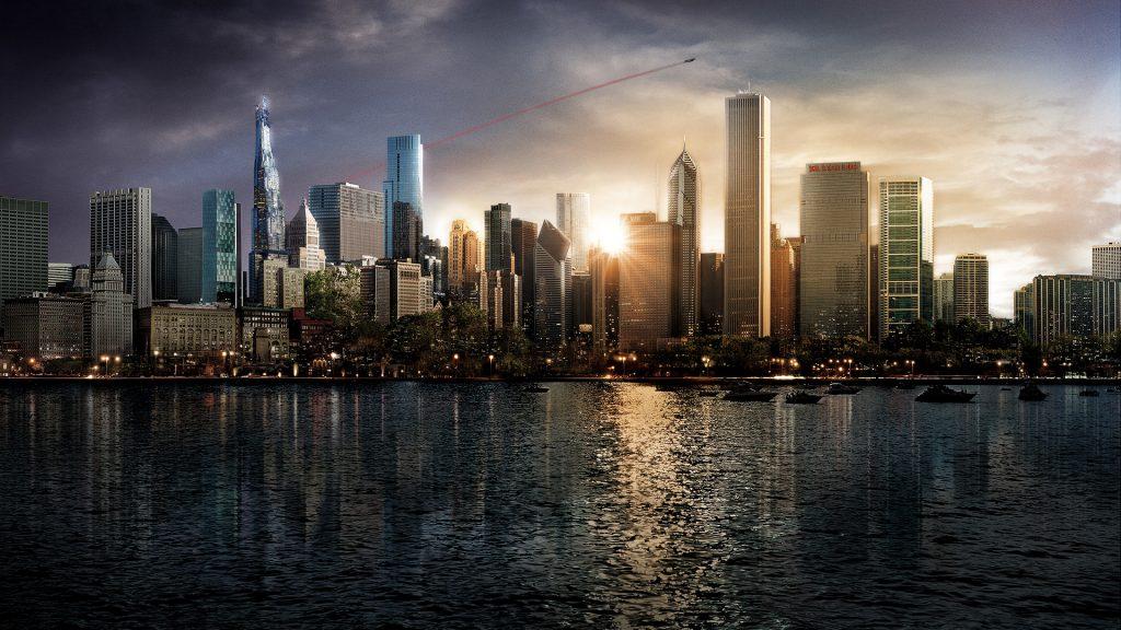 Superman in Metropolis City movie poster