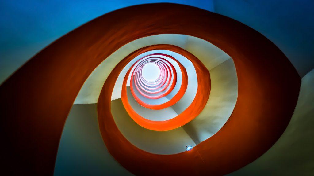 Spiral staircase, Mediapark in Cologne, Germany