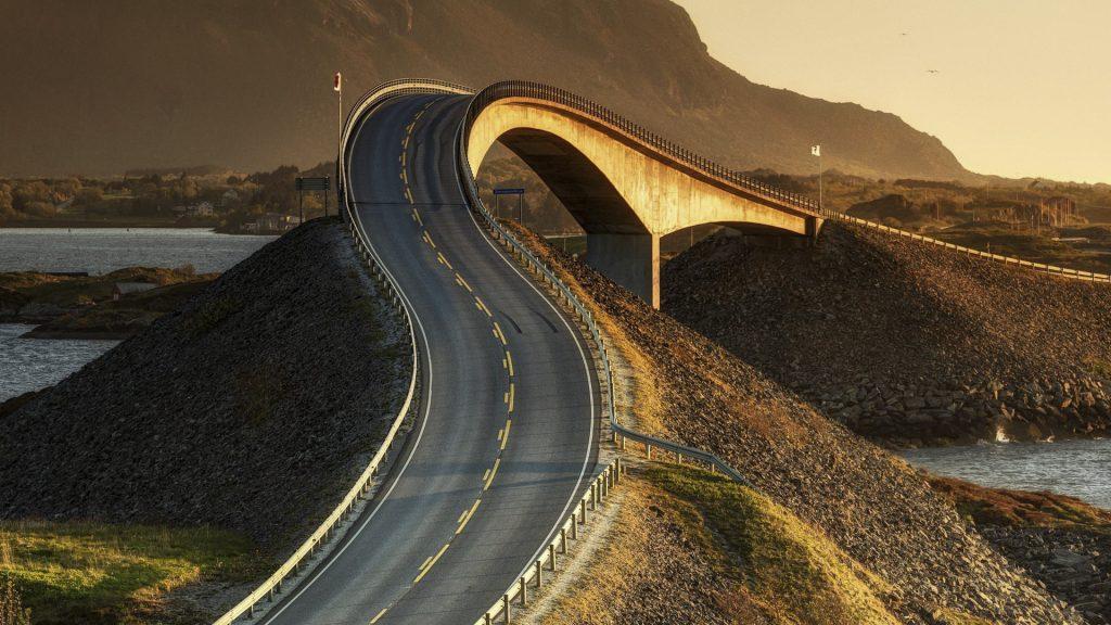 Atlantic Ocean Road bridge, Norway