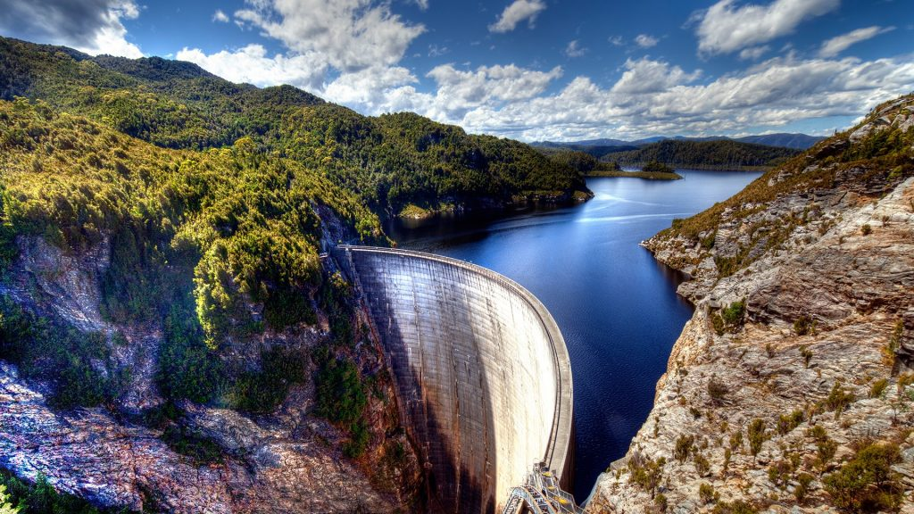Gordon dam in Tasmania, Australia