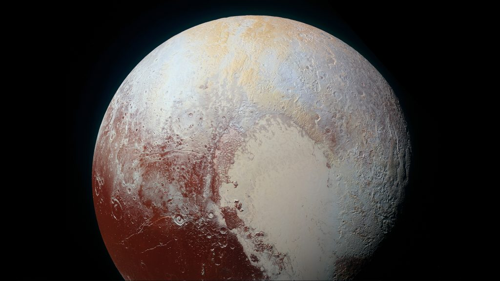 Pluto as seen from the New Horizons spacecraft