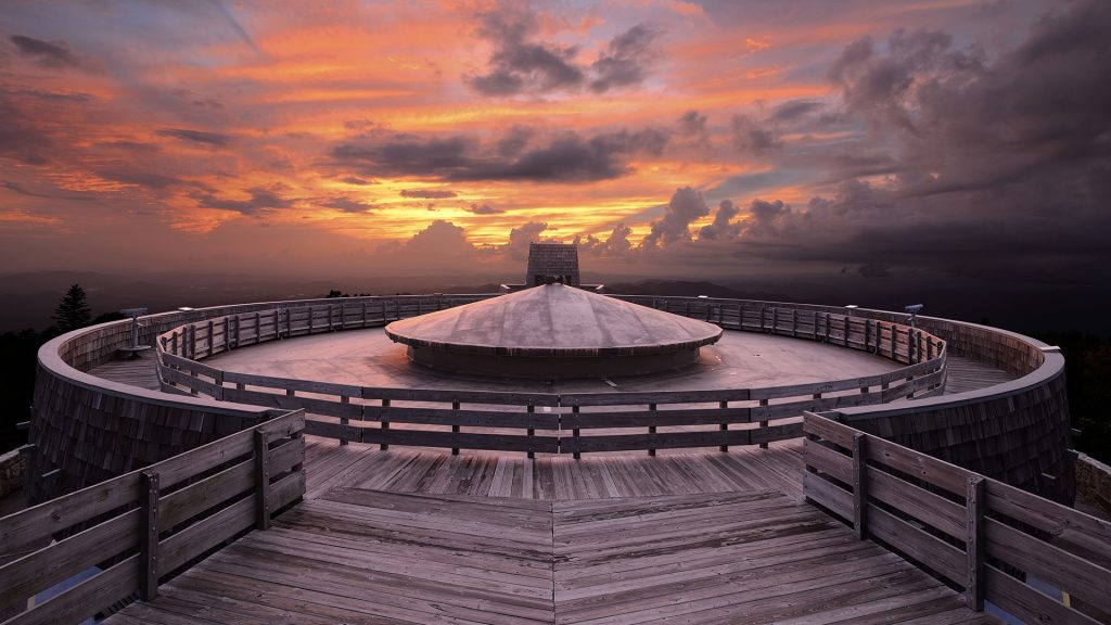 Observatory at the summit of Brasstown Bald in Blue Ridge Mountains, Georgia, USA