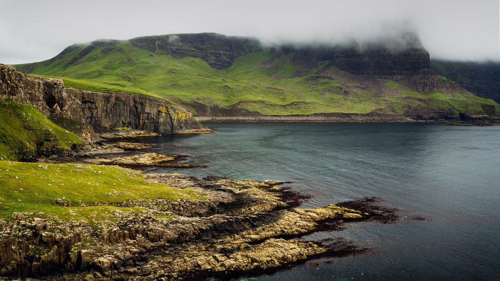 Neist Point on Isle of Skye, Scotland, UK