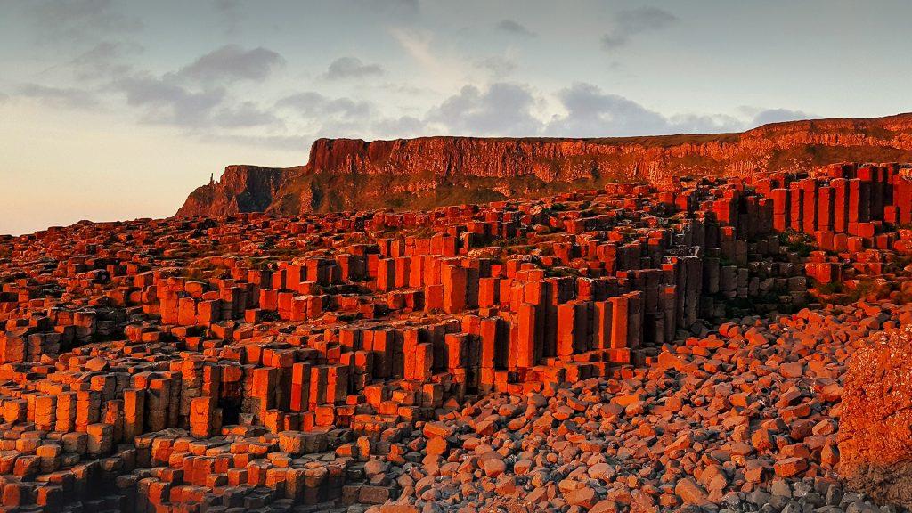 Basalt columns at Giant's Causeway, County Antrim, Northern Ireland, UK