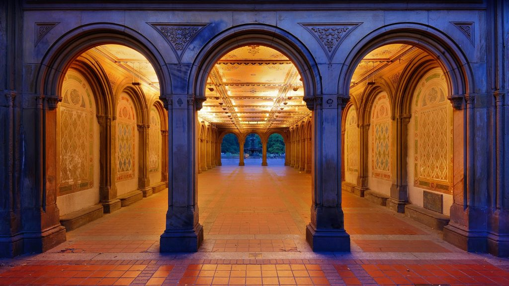 Bethesda Terrace pedestrian underpass, Central Park, Manhattan, New York City, USA