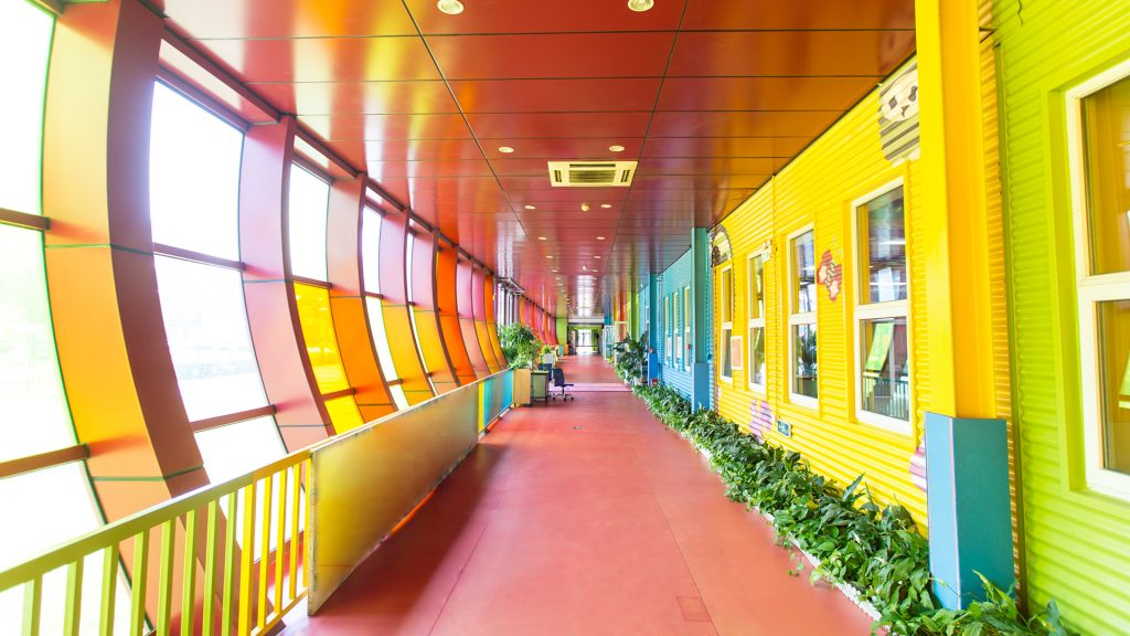Kindergarten corridor, Beijing, China