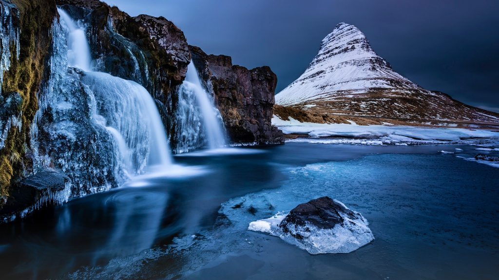 Peak of Kirkjufell with waterfall, Snæfellsnes peninsula, Iceland