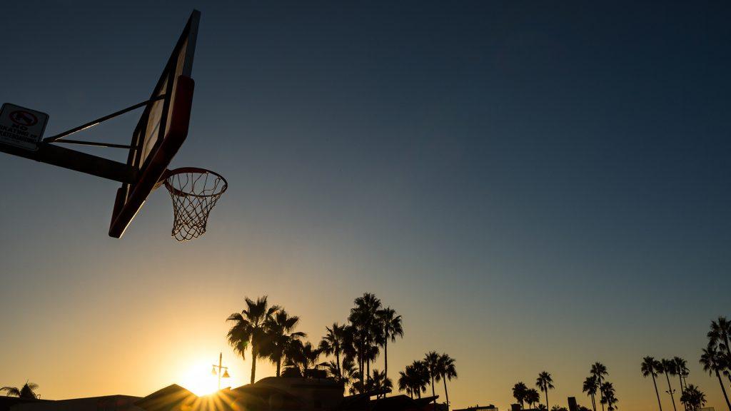 Venice Beach at sunset, Los Angeles County, California, USA