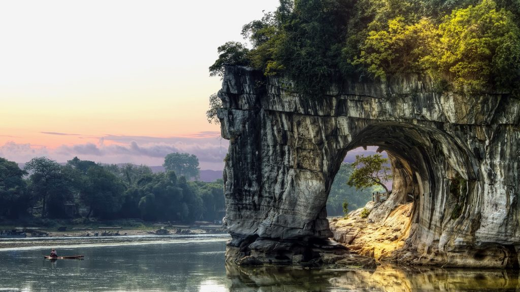 Elephant Trunk Hill in the City of Guilin, China
