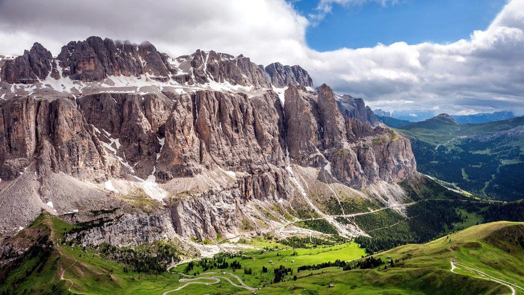 Gardena Pass, Dolomites, Selva di Val Gardena, Trentino-Alto Adige, Italy