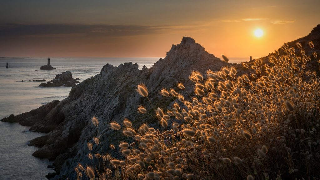Pointe du Raz at sunset, Cap Sizun, Bretagne, France