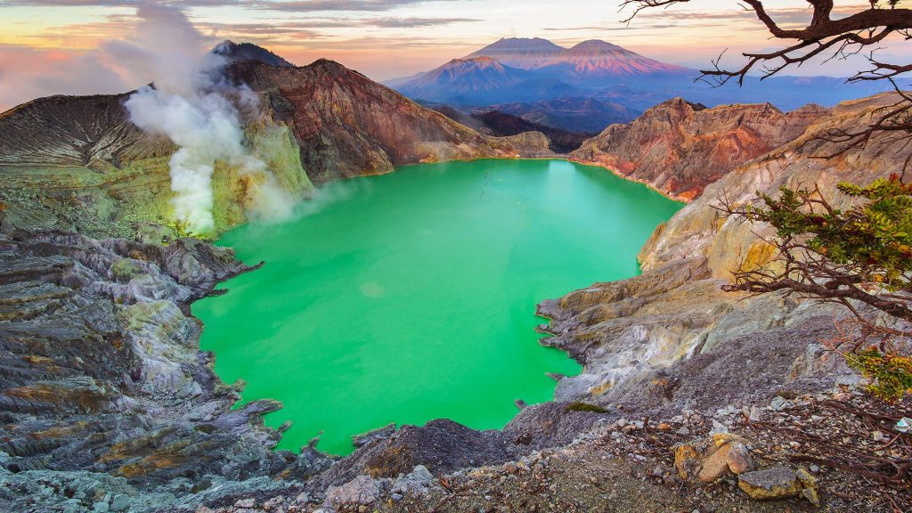 Acid Lake, Kawah Ijen Crater, Banyuwangi Regency of East Java, Indonesia