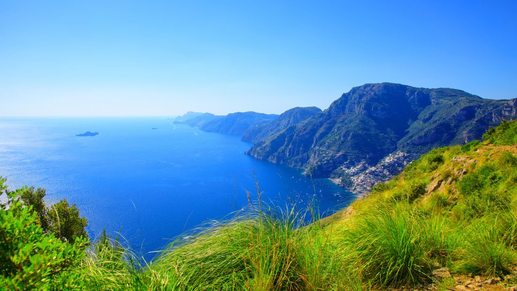 Amalfi Coast view from Path of the Gods, Peninsula of Sorrento, Italy