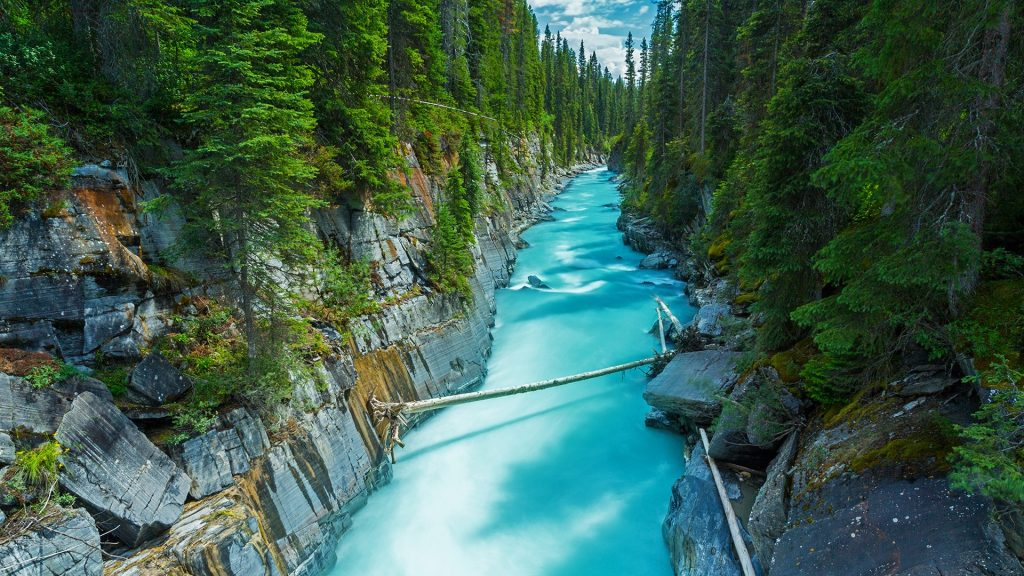 Numa Falls at Vermillion River, Kootenay national park, British Columbia, Canada