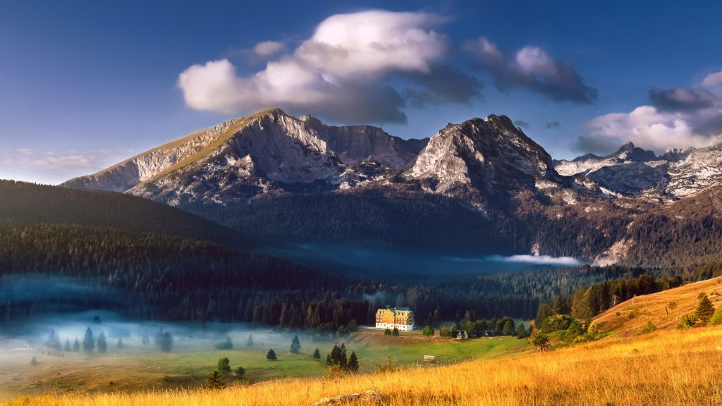 Durmitor National Park mountain landscape, Montenegro