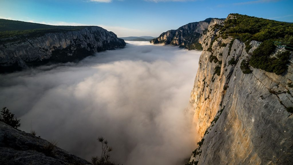 Morning mist in Gorges du Verdon, Alpes-de-Haute-Provence, France