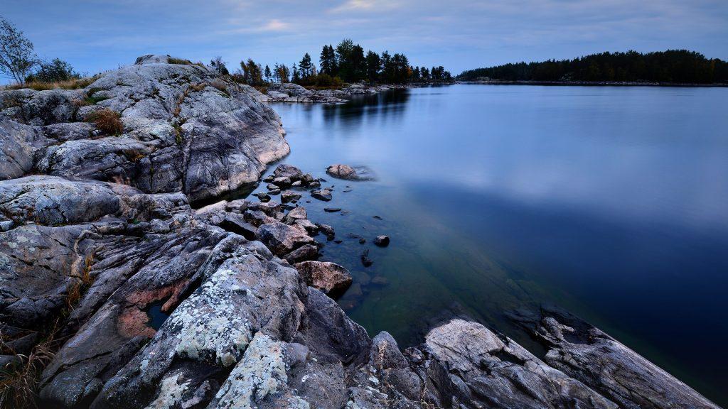 Ladoga Lake view from Iso Koirasaari Island, Karelia, Russia