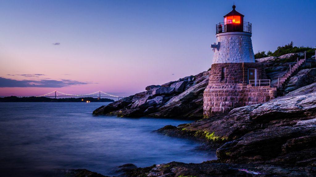 Castle Hill Lighthouse, Newport, Rhode Island, USA