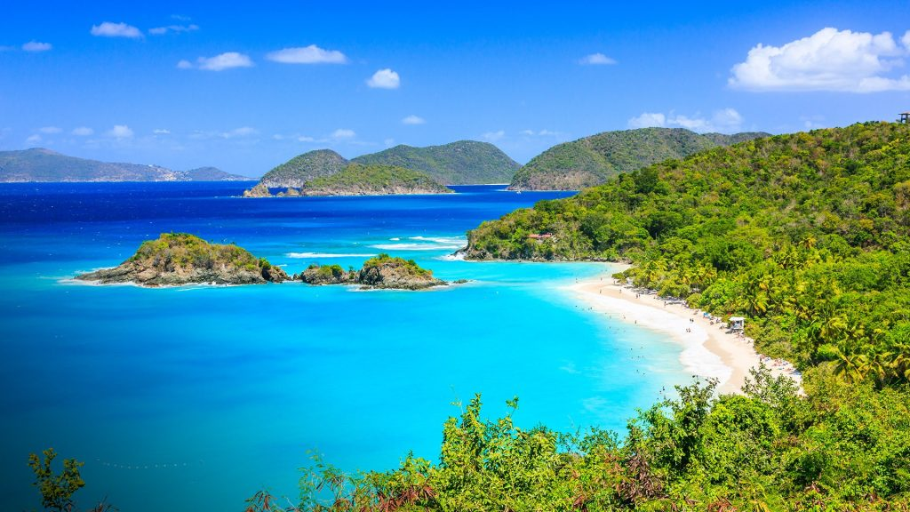 Caribbean, Trunk Bay on St John island, US Virgin Islands
