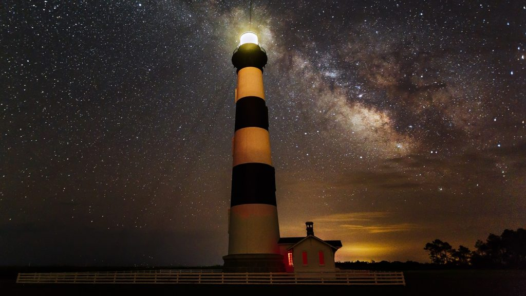 Bodie Lighthouse on North Carolina's Outer Banks, USA