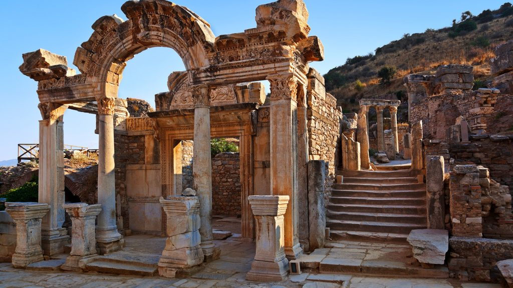 Ancient ruins in Ephesus, Kuşadası, Turkey