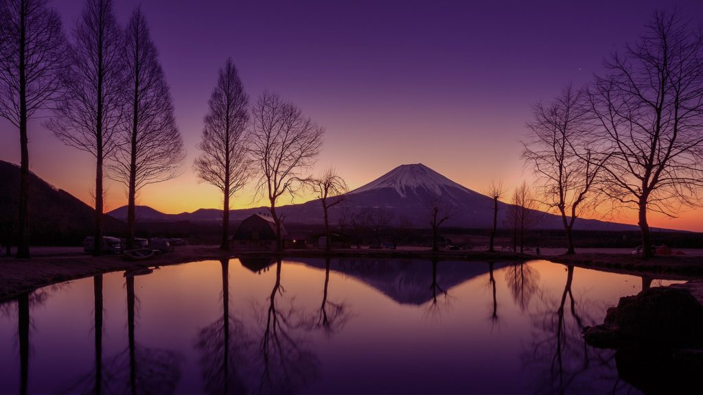 Mount Fuji against a beautiful morning sky, Japan