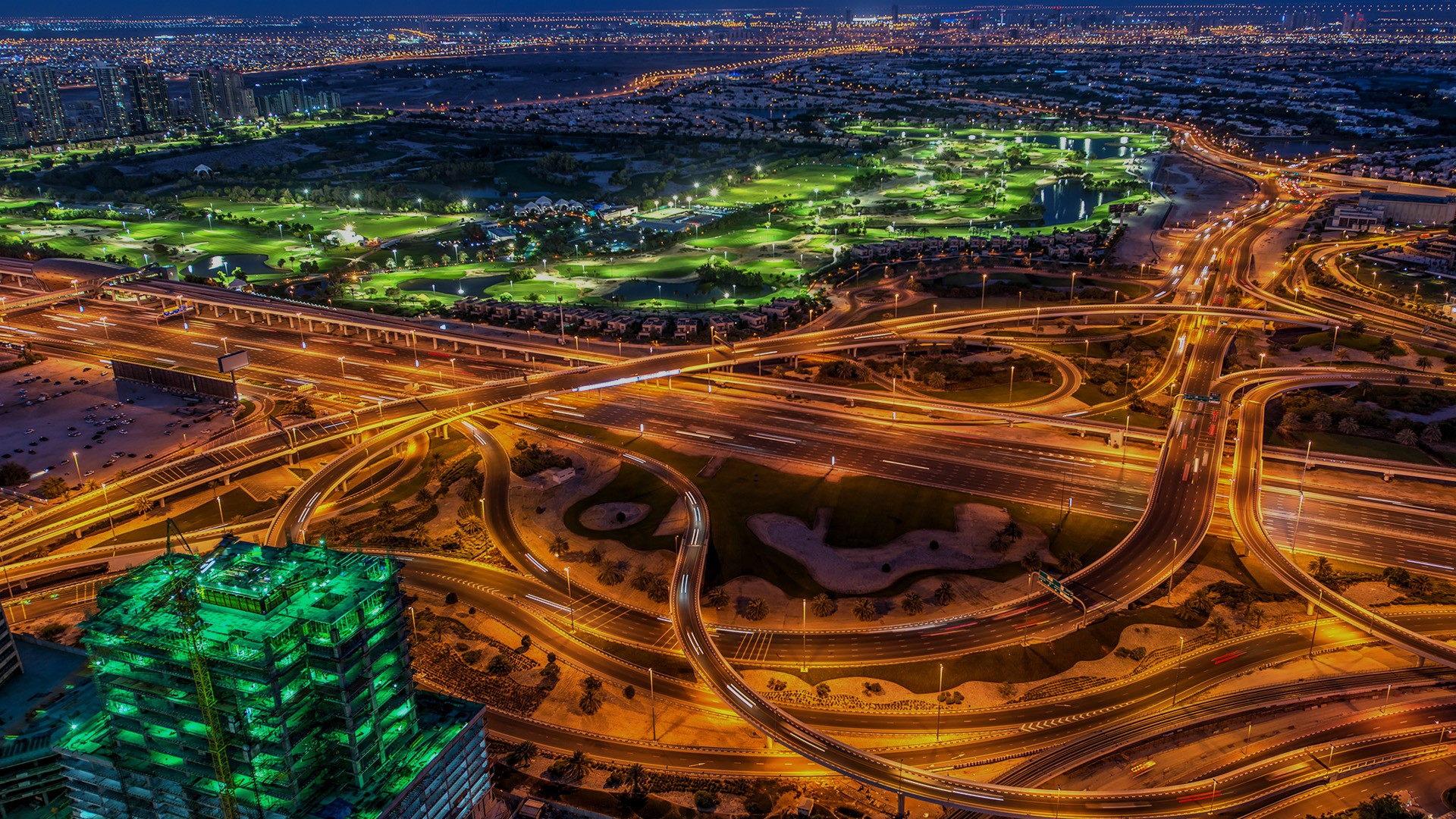 Crossroads From The Roof In Dubai City Uae Windows 10