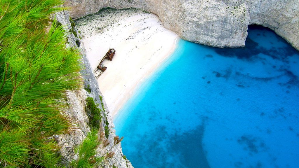 Shipwreck bay Navagio beach, Zakynthos, Greece